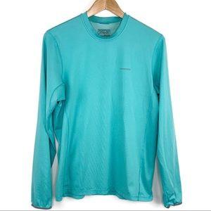 Patagonia Men's Aqua Blue Wicking Shirt